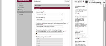 common app activities section common app 4 activities section