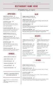 Word Restaurant Menu Templates Restaurant Menu Template Microsoft Word 2018 Printables And Menu