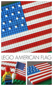 lego american flag activity 4th of july lego building idea