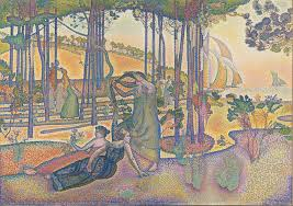 neo impressionism henri edmond cross the evening air l air du soir c 1893 oil on canvas 116 x 164 cm museacutee d orsay paris
