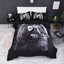 fanaijia angel bedding sets queen size 3d duvet cover set with pillowcase single size girl bedline bed sets king comforter set bedding ensembles
