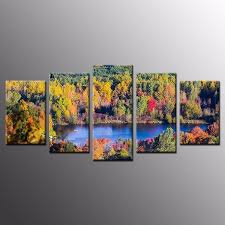 special for large canvas prints autumn tree canvas painting wall art home decor 5pc no frame supply to florence