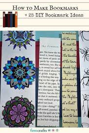 make your own stamp diy lovely how to make bookmarks 25 diy bookmark ideas favecrafts com