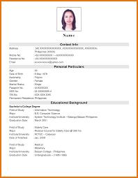 Sample Job Application Resume resume for job application letter format business 10
