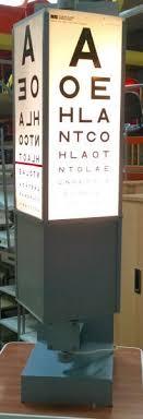 Eye Chart Machine Illuminated Rotary Eye Chart Film Medical