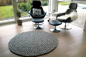 view in gallery white and grey felt ball rug the urban patio