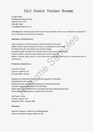 Example Of An Outline For Customer Care Line Calls Resume Template