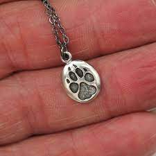 sterling silver wolf paw track
