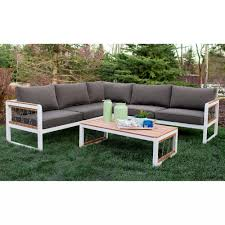 outdoor sectional metal. Home And Interior: Astonishing Metal Outdoor Sectional Of Hampton Bay Granbury 6 Piece With Fossil