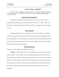 critique of article gravy anecdote how to write a paper on  sample critique essay business letter template word how to write a on an article example quantitative