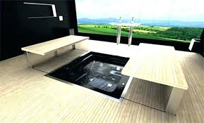 bathtubs bathtub floor in tent sunk contemporary and modern repair inlay kit white best sunken ideas