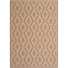 safavieh martha stewart brown beige 5 ft x 8 ft indoor outdoor