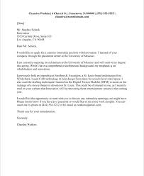 Resume Cover Letter Examples For College Students Best of College Student Cover Letter Example Tierbrianhenryco