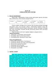 Perusahaan reparasi rapih jurnal umum periode 31 mei 2009 tanggal nomor akun/keterangan ref debet kredit bukti mei 2009 1 kas laba/rugi : Bab Iv Jurnal Dan Posting Modu L