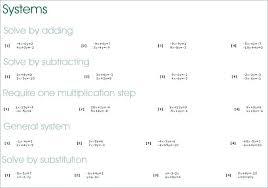 systems of equations worksheet substitution system algebra worksheets tes