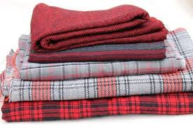 vintage fabric lot plaid collection red grey black wool blend plaids for sewing or rugs rug red plaid rug buffalo area