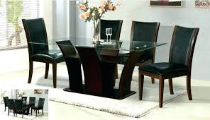 glass dining table set round glass dining table with wood base glass top dining tables dining