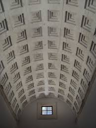 Vaulted ceiling in the entrance hall of the Palazzo Venezia.