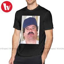 Kartell T Hemd El Chapo T Shirt Streetwear XXX T Hemd Kurzen Ärmeln Lustige  Gedruckt Mens Baumwolle T shirt|T-Shirts