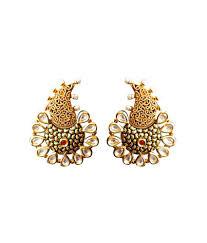 Designer Earrings Online Shopping India Mahi Creation Gold Designer Earrings Buy Mahi Creation