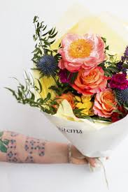 with flowers delivery