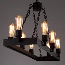 rustic 8 light wrought iron style lighting fixtures