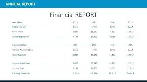 annual financial statement template end of year financial report template personal financial