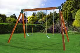 classic free standing cedar swing set