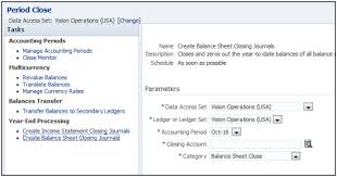 How To Create Balance Sheet Running Closing Journals Examples