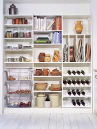 vertical shelves are great for storing baking sheets