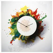splatter clock colorful contemporary
