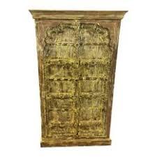 vintage antique furniture wardrobe walnut armoire. Mogul Interior - Consigned Antique Cabinet, Yellow Rustic Armoire, Mehrab Teak Doors Furniture Vintage Wardrobe Walnut Armoire I