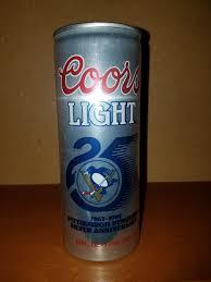 Coors Light 16 Oz Aluminum Bottle Koozie 1991 Coors Light Penguins Silver Anniv Silver Background