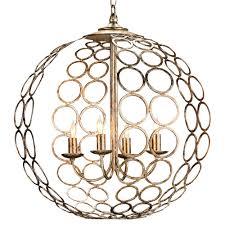 hammered metal circle 4 light round ball pendant lantern kathy kuo home