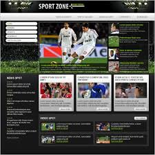 Baseball Websites Templates Sports Website Template Ideas Free Sports Template Sport Zone