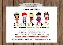 Kids Costume Party Birthday Invitation Www Partybeautiful