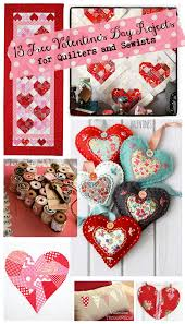 Valentine's day quilt, 95 square, free pattern at pink door fabrics (click for tutorial). 27 Free Valentine S Day Patterns Projects To Sew And Quilt Jacquelynne Steves