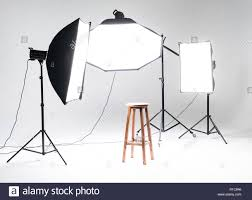 Professional Film Lighting Equipment Photo Studio Interior With Professional Lighting Equipment