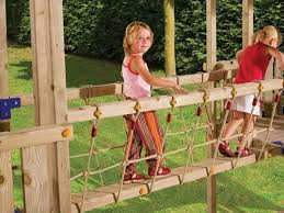 DIY Homemade Rope Bridge Ideas | NewNise | playground ideas for kids |  Pinterest | Rope bridge, Bridge and Homemade