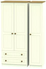mirrored wardrobe with drawers cream and oak 3 door 2 drawer triple wardrobes single bedroom chest of