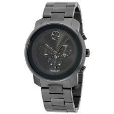 movado men s watches new used luxury vintage movado bold grey dial stainless steel men s watch 3600277