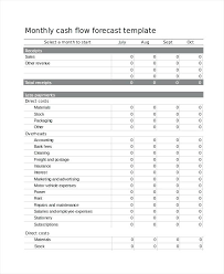 Cash Flow Forecast Excel Template Sales And Expenses Weekly ...