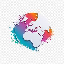 Map Of The World Background Earth Globe World Map Earth Abstract Color Background Vector