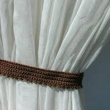crochet curtain brown curtain tie backs crochet curtain holders curtain ties window dry window decor living