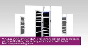 mics lockable jewelry cabinet wall door mounted jewelry armoire