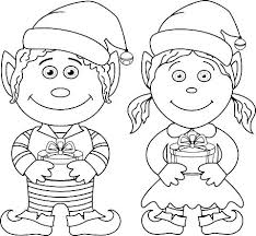 Christmas Elves Coloring Pages Elf Two Elf Coloring Page