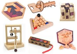 Wooden Games For Adults Classic IQ Puzzle Mind Brain Teaser 100D 100D Wooden Puzzles 6