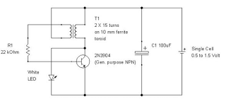 joule thief ultra simple control of light output 6 steps our basic joule thief circuit