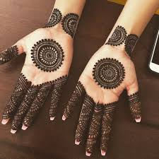 Simple Round Mehndi Design Image May Contain 1 Person Round Mehndi Design Mehndi