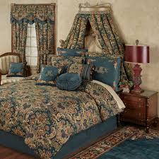 casanova jacobean fl dark teal comforter bedding teal and brown comforter set